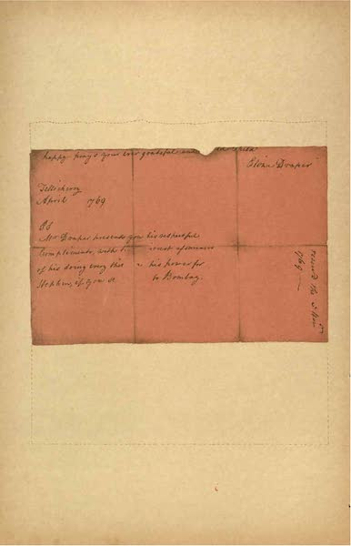 Relics of the Honourable British East India Company - A Letter from Eliza Draper, dated Tellicherry, April, 1769 [VIII] (1909)