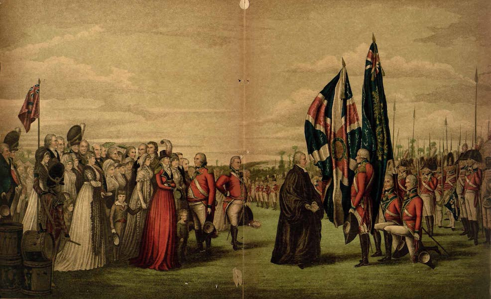 Relics of the Honourable British East India Company - Consecration of Colours which Lady Jane Dundas presented to the Third Regiment of Royal East India Volunteers on the 29th June, 1799 (1909)