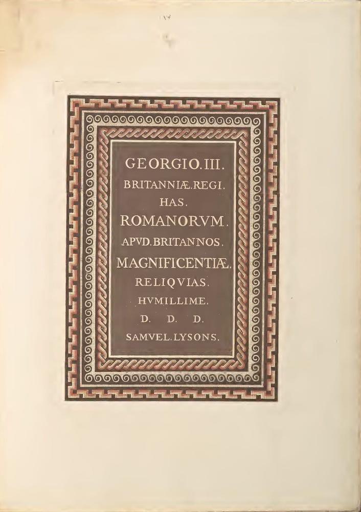 Archaeology - Reliquiae Britannico-Romanae Vol. 4