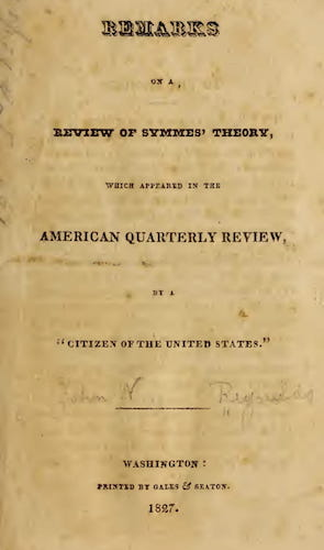Geology - Remarks on a Review of Symmes' Theory