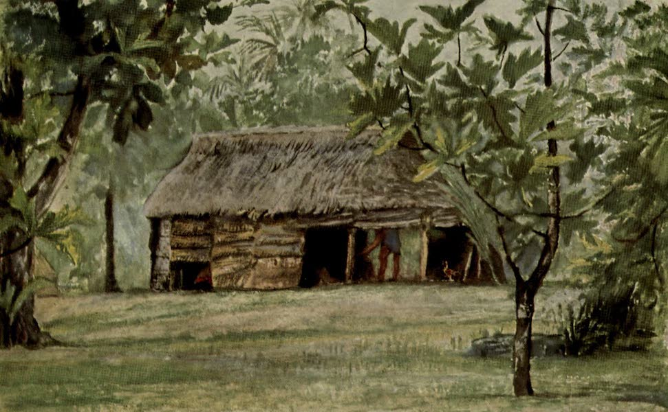 Reminiscences of the South Seas - Mataafas Cook House From Our Hut at Vaiala, Samoa (1912)
