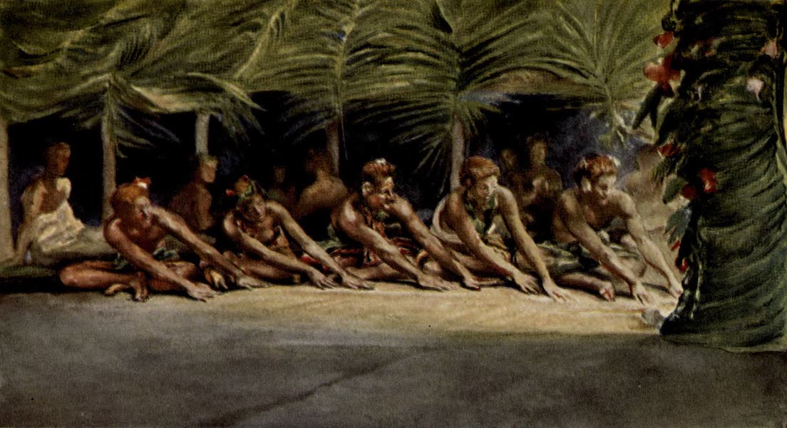 Reminiscences of the South Seas - South Sea Seated Dance at Night, Samoa (1912)
