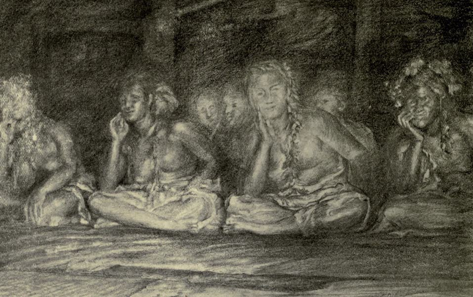 Reminiscences of the South Seas - Practising the Seated Dance at Night, Samoa (1912)