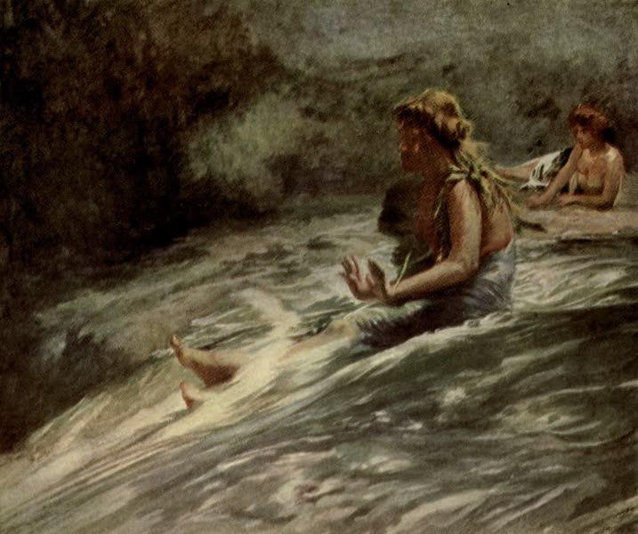 Reminiscences of the South Seas - The Papa Sees or Sliding Rock Fagalo - Sliding Waterfall, Vaiala, Samoa (1912)