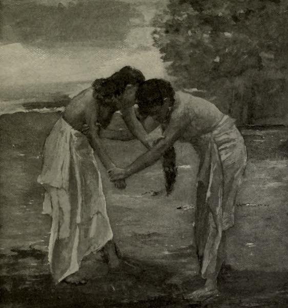 Reminiscences of the South Seas - Fagalo and Sue Wrestling, Vaiala, Samoa (1912)