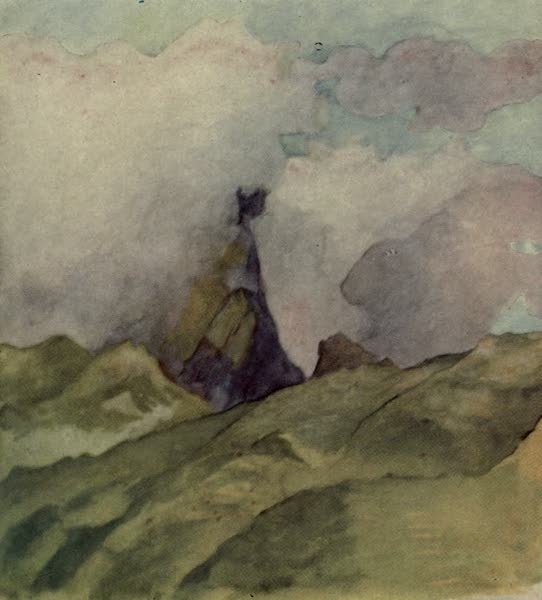 Reminiscences of the South Seas - Edge of the Aorai Mountain Covered with Cloud, Midday, Papeete, Tahiti (1912)