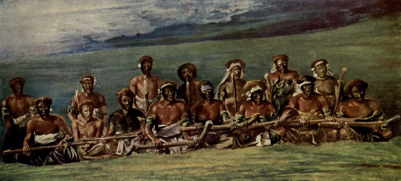 Reminiscences of the South Seas - Chiefs in War Dress and Paint, Devil Country, Viti Levu, Fiji (1912)