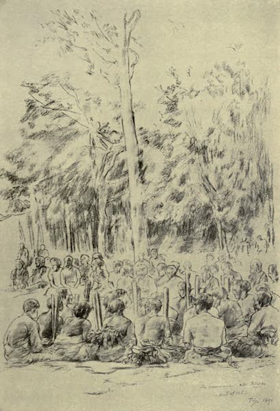 Reminiscences of the South Seas - Mekke-Mekke, A Story Dance - The Musicians at Reva, Fiji (1912)