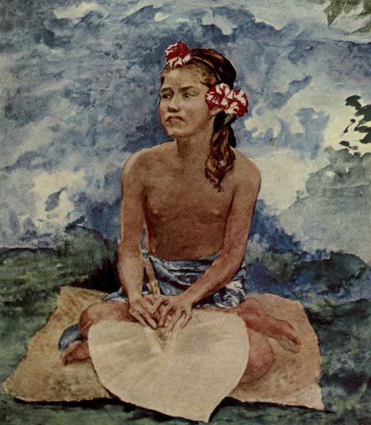Reminiscences of the South Seas - Tonga Girl with Fan (1912)