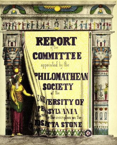 Report of the Committee Appointed to Translate the Rosetta Stone