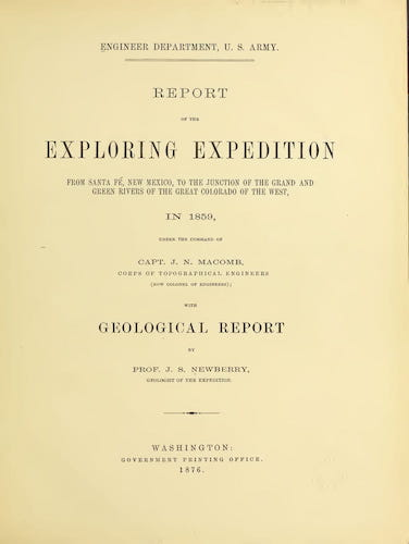 Geology - Report of the Exploring Expedition from Santa Fe
