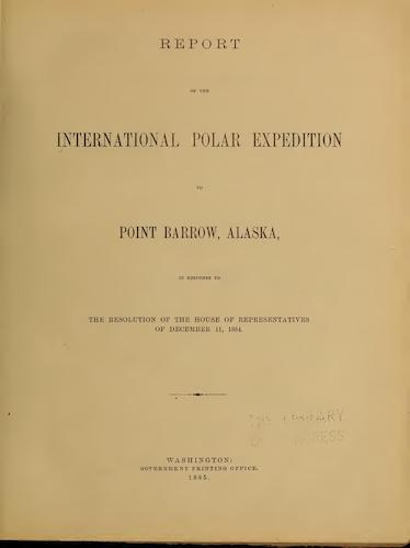 Novaya Zemla - Report of the International Polar Expedition