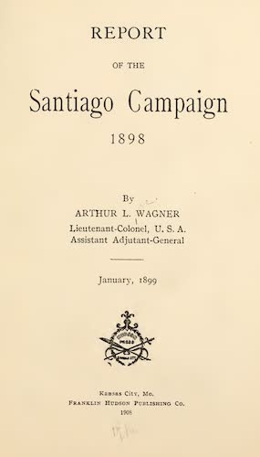 Report of the Santiago Campaign (1908)