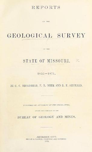 Geology - Reports on the Geological Survey of the State of Missouri