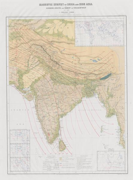 Results of a Scientific Mission to India and High Asia Atlas - Magnetic Survey of India and High Asia [I] (1866)