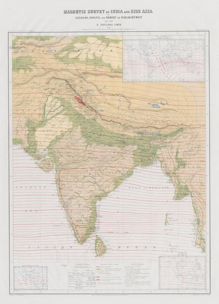 Results of a Scientific Mission to India and High Asia Atlas - Magnetic Survey of India and High Asia [II] (1866)