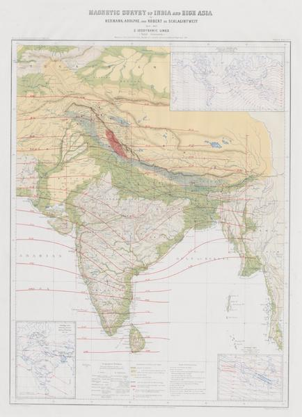 Results of a Scientific Mission to India and High Asia Atlas - Magnetic Survey of India and High Asia [III] (1866)