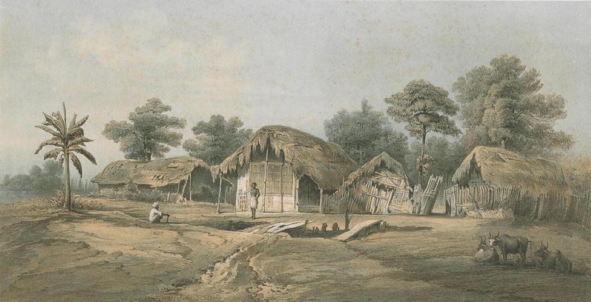 Results of a Scientific Mission to India and High Asia Atlas - Village of Mangeldai in Assam (1866)