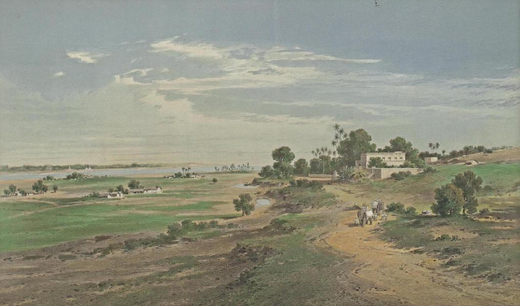 Results of a Scientific Mission to India and High Asia Atlas - The Ganges near Patna Western Bengal (1866)