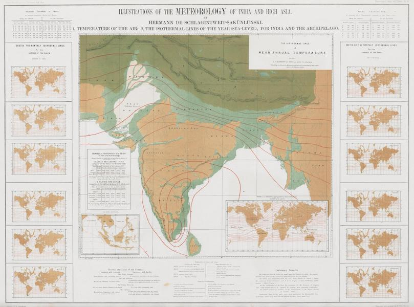 Results of a Scientific Mission to India and High Asia Atlas - Illustrations of the Meterology of India and High Asia [II] (1866)