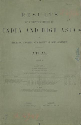 Results of a Scientific Mission to India and High Asia Atlas (1866)