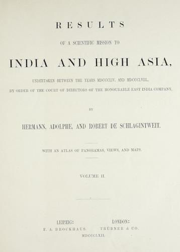 Heidelberg University - Results of a Scientific Mission to India and High Asia Vol. 2