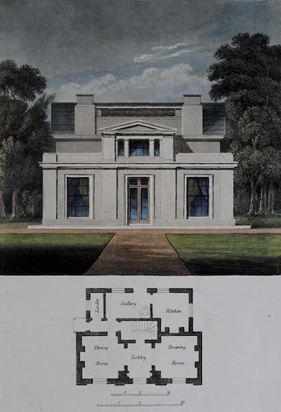 Retreats : A Series of Designs - Uniform Cottage (1827)