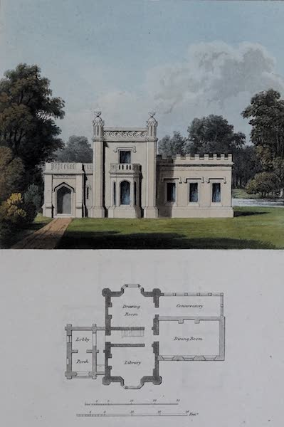 Retreats : A Series of Designs - Gothic Residence (1827)