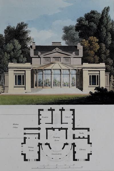 Retreats : A Series of Designs - Grecian Residence (1827)