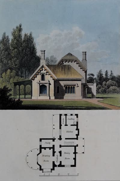 Retreats : A Series of Designs - Rustic Cottage Residence (1827)