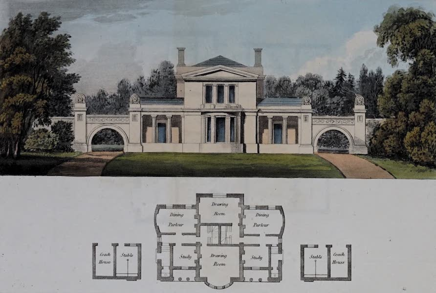 Retreats : A Series of Designs - Coupled Houses (1827)