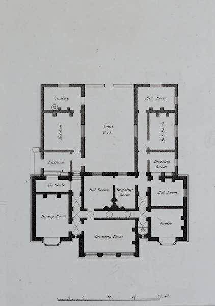 Retreats : A Series of Designs - Parsonage House - Ground Plan (1827)