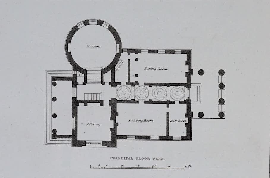 Retreats : A Series of Designs - Irregular House - Principal Floor Plan (1827)