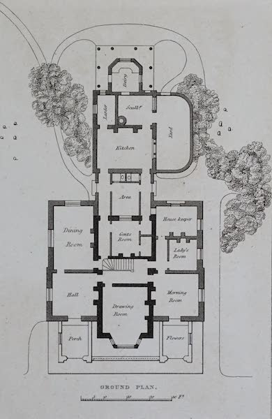 Retreats : A Series of Designs - Gothic House - Ground Plan (1827)