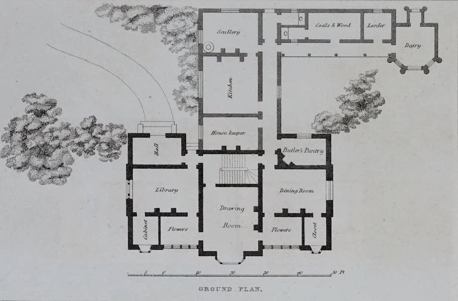 Retreats : A Series of Designs - Gothic Villa - Ground Plan (1827)