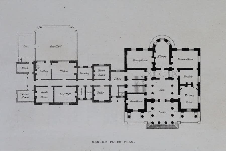 Retreats : A Series of Designs - Corinthian Villa - Ground Floor Plan (1827)