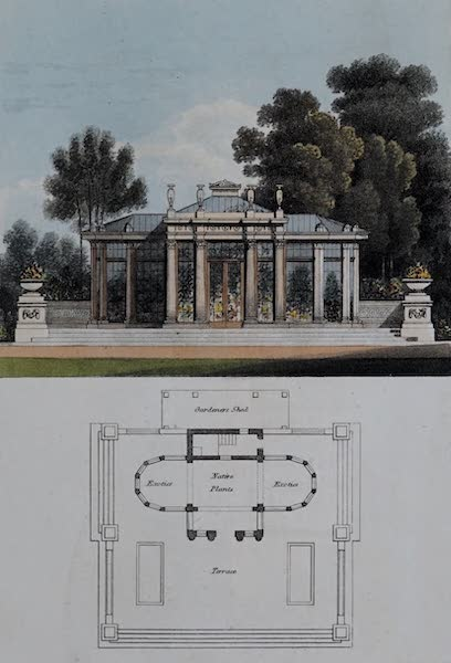 Retreats : A Series of Designs - Conservatory (1827)