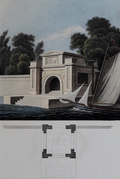 Retreats : A Series of Designs - Water Gate (1827)