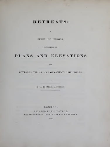 Retreats : A Series of Designs (1827)