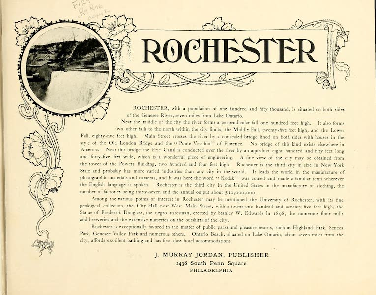 Rochester, the Flower City - Title Page (1905)