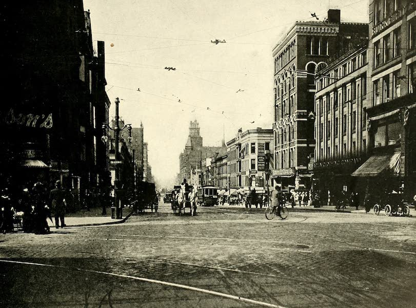 Rochester, the Flower City - Main East from St. Paul Street (1905)