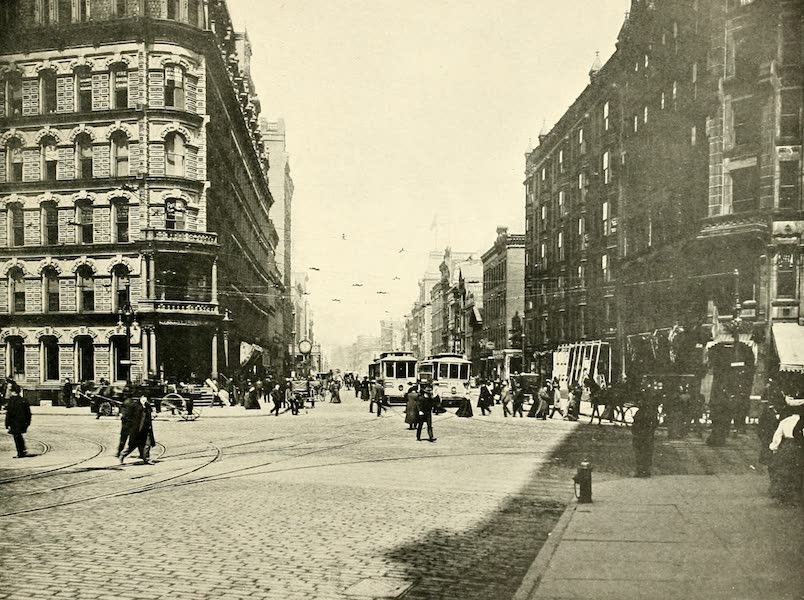 Rochester, the Flower City - State Street North from Exchange (1905)