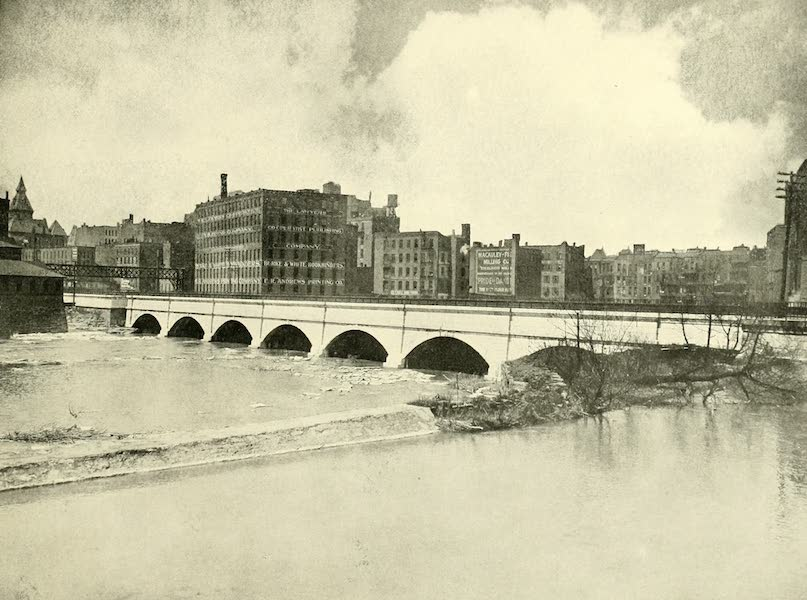 Rochester, the Flower City - Erie Canal and Aqueduct over the Genesee River (1905)