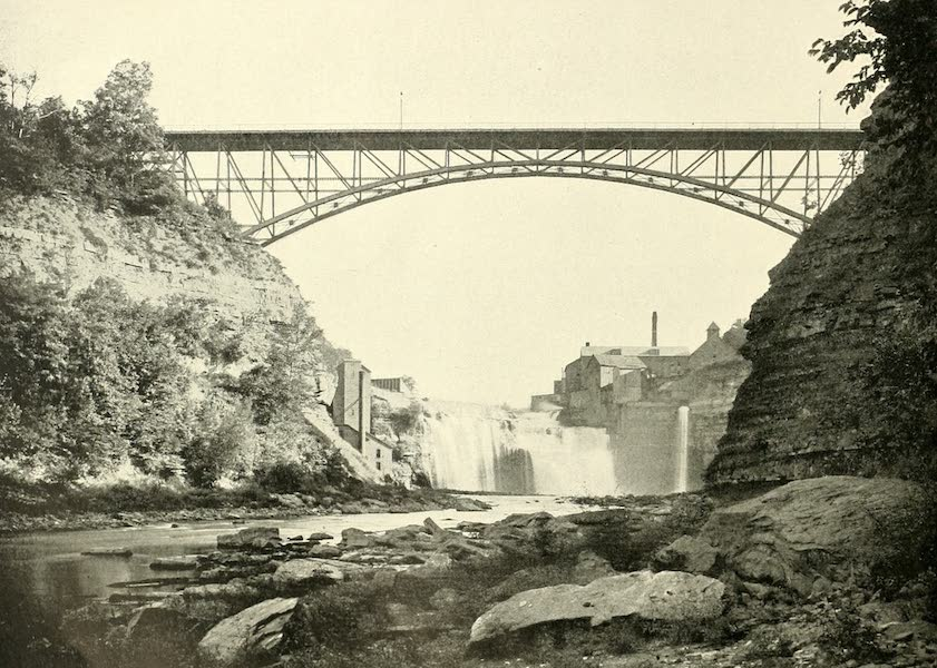 Rochester, the Flower City - Driving Park Avenue Bridge and Lower Falls of the Genesee (1905)