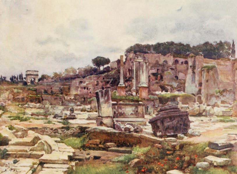 Rome, Painted and Described - The Forum from the Arch of Septimius Severus (1905)