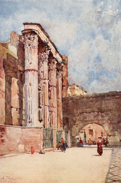 Rome, Painted and Described - Temple of Mars Ultor (1905)
