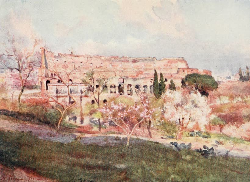 Rome, Painted and Described - The Colosseum on a Spring Day (1905)