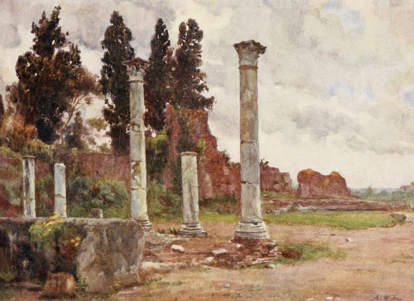 Rome, Painted and Described - Library of the House of Domitian on the Palatine (1905)