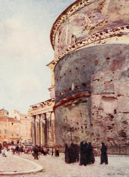 Rome, Painted and Described - Pantheon, a flank view (1905)