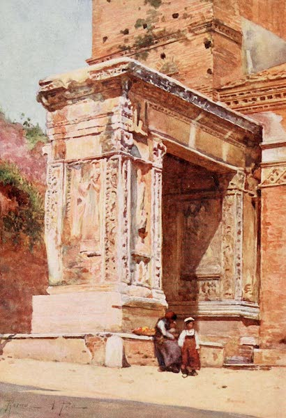 Rome, Painted and Described - Silversmiths' Arch in the Velabrum (1905)
